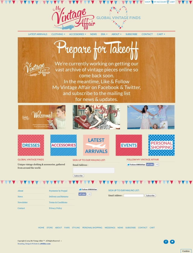My Vintage Affair Website by 286Blue