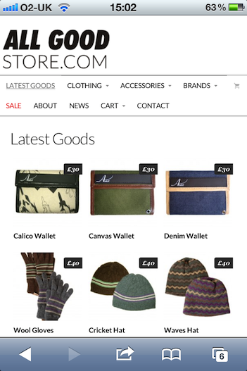AllGoodStore.com iPhone