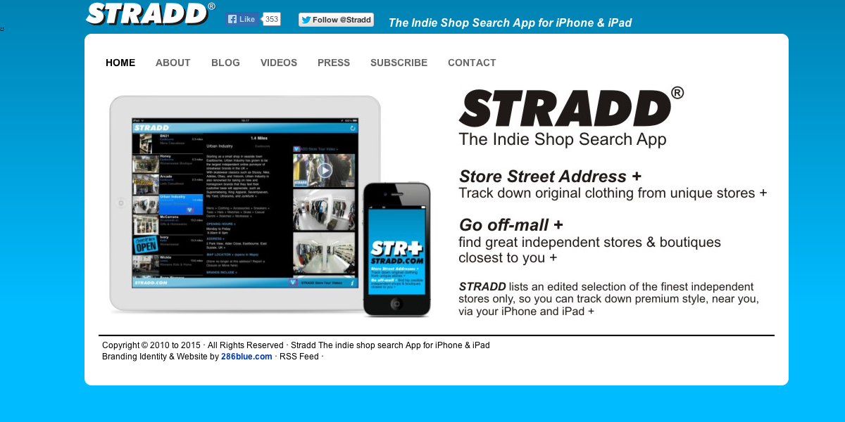 Stradd The indie shop search App for iPhone & iPad
