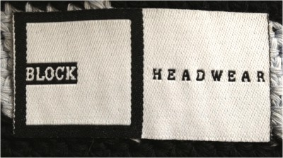 Block Headwear Inner Woven Label