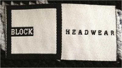 Block Headwear Inner Woven Label