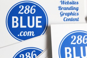 286Blue Pantone Business Cards